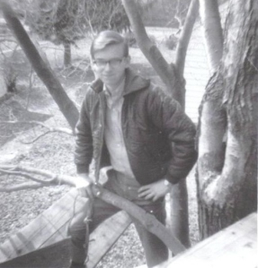 #3 Richard in tree fort Feb 1969